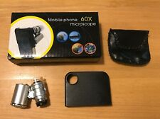 Mini microscopio 60x + telescopio zoom 8x + mini treppiede, tutto per iPhone 4S