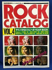 Rock Catalog Vol.4 1980 Yearbook Japan Ongaku Senka Magazine Blondie Police ABBA