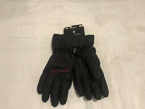 NWT $50.00 Mens Spyder Bolster Ski Gloves Black w/Red Spider Size L / XL