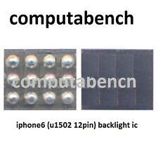 U1502 12pin Backlight IC para el iPhone 6 totalmente nuevo post rápido
