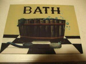 BATH canvas wall print