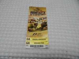 Formula-1Racing United States Grand Prix Austin Oct.31 -Nov. 2 ,2014 Ticket Stub