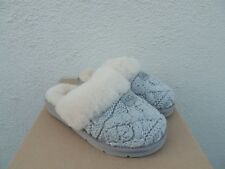 UGG SEAL COZY KNIT CABLE SHEEPSKIN SLIPPERS,  WOMEN US 10/ EUR 41 ~ NIB