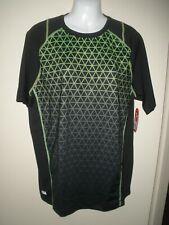 #744 Mens Shirt M Fila Sport Black Green Diamond Checked New Nwt $30