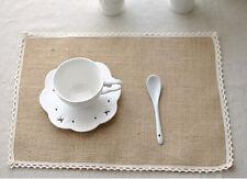 Natural Hessian Jute Burlap Table Placemats Rustic Home Wedding Decor Crafts AU