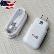 Original Fast Charging Wall Charger USB3.1 Type C Data Cable LG K30 Q7 Q8 ThinQ