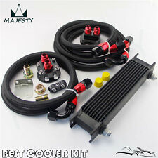 Universal 10 Rows Oil Cooler Kit  For Honda Nissan Subaru Impreza WRX STI