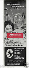 DAVAO INSULAR HOTEL MOST BEAUTIFUL RESORT ISLANDIA HOTELS 1964 AD