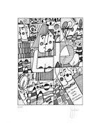 Grafica d'autore numerata firmata a mano Stefano Fiore, fotolitografia da china