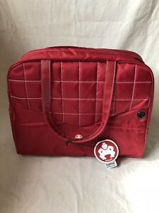 """Sumo 15"""" Laptop Purse -Red w/White Stitching Color Red"""