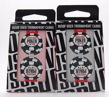 Set of 2 Decks Original World Series of Poker Used Copag Plastic Playing Cards *