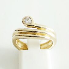 Ring Gold 585er Schlange Brillant 14 kt Goldschmuck Edelsteine Damen 0,17 ct.