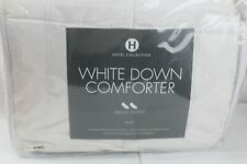 Hotel Collection Medium Weight White Down KING Comforter White Striped  $640