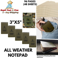 All Weather Edc Pocket Memo Notebook Waterproof Paper Notepad Pack Of 5 Coyote