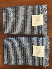 "Target Project 62 Textured Navy Blue White Stripe Bath Towels 27"" x 52"" Set of 2"