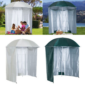 Fishing Umbrella Beach Parasol Sun Shelter Side Canopy Carry Bag Steel 2 Colours