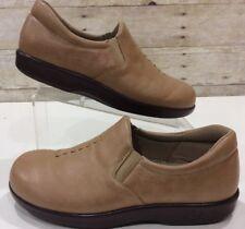 SAS Viva Leather Tan Slip On Tripad Comfort Soft Step Shoes Size Womens 8.5 WW