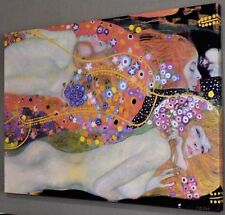 "GUSTAV KLIMT Water Serpents II CANVAS PICTURE PRINT WALL ART ""BOX FRAME"" #A352"
