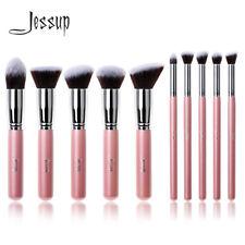 Jessup Makeup Brush Set 10Pcs Foundation Powder Eyeshadow Tool Pink