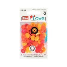 Prym Love Color Snaps Druckknöpfe  Blume 13,6 mm Farbe gelb rot mandarine 393080