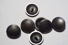 10pc 15mm antique étain métal brossé chemise blazer manteau cardigan bouton 2775