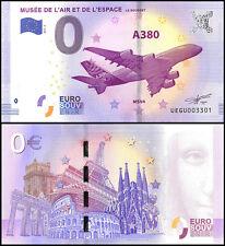 Zero (0) Euro Europe, 2017-2, UNC, Airbus A380 L'Air Et De L'Espace,France
