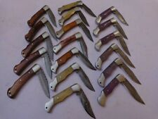 CUSTOM HANDMADE DAMASCUS STEEL Pocket FOLDING KNIVES LOT OF 17- 27