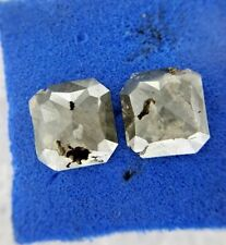 Big Natural Diamond Pair 3.09TCW Grey Cushion Rose cut for Earring Low Price