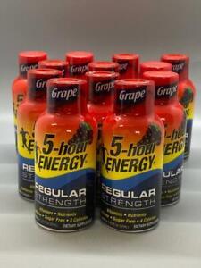 5-Hour ENERGY Regular Strength Grape 1.93 Oz 12PK Exp 1/22+