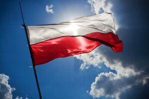 Giant Euro 2020 Flag Of Poland Polish Polska Flaga Polski SPEEDY DELIVERY