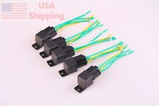 5x CAR RELAY + 5x 5PIN SOCKET 12V DC 40A WATERPROOF SPDT AUTO Relay