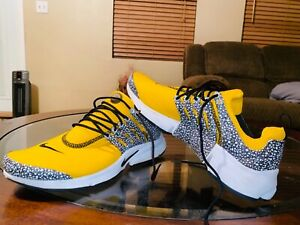 Nike Air Presto Safari ( Black, Gold, and White) - Worn Once, Great Condition!