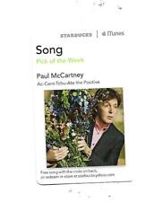 Paul McCartney  Starbucks Pick of the Week Card 2012 Song:  Ac-Cent-Tchu-Ate