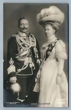 GERMAN EMPEROR WILHEM II w/ WIFE ANTIQUE REAL PHOTO POSTCARD RPPC