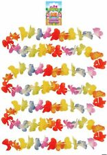 Glosticks 3 Meter Long Rainbow Silk Flower Lei Garland