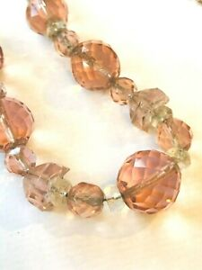 vintage lot faceted CRYSTAL beads 3x necklaces