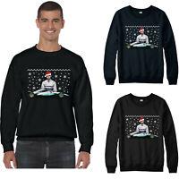 Lewis Hamilton Christmas Jumper, Racing Driver Santa Hat Xmas Festive Gift Top
