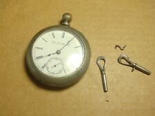 elgin national company pocket watch hunter key wind 1885 18s 13-15 jewels