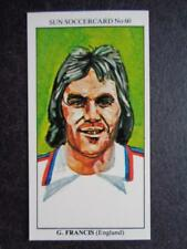 LE SOLEIL soccercards 1978-79 - Gerry Francis - ANGLETERRE #60