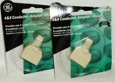 2 GE 4 & 8 Conductor Adaptor Provide One 4 Connector & one 8 Connector Jack Alm