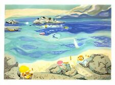 Limited Edition Vintage Print -Seashore by George Lambert 1970s vintage lithogra