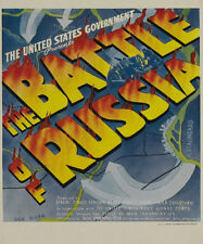 Frank Capra The battle of Russia documentary poster
