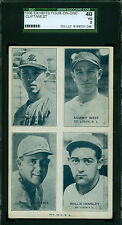 1936 Exhibit 4 on 1 Card- St Louis Browns - Clift West Hemsley Andrews SGC 40