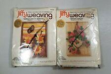 Jiffy Weaving Kits Sealed #3510 Sunflower #3252 Azalea Vintage