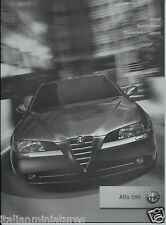 Alfa Romeo 166 2004 Facelift Technical Specifications Equipment Options Brochure