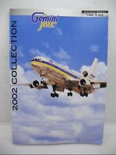 GEMINI JETS COLLECTORS GUIDE 2002 CATALOG 22 PAGES AMERICAN UNITED AEROMEXICO