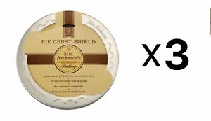 Mrs. Anderson's Baking 9 Inch Pie Crust Shield - 8 ½ to 9 Inch Pies (Pack of 3)