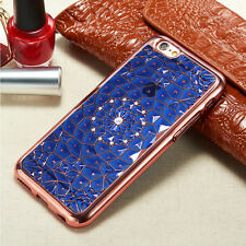 3d diamond bling blume tpu gel case rückschale für verschiedene handys + stylus