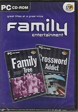 FAMILY ENTERTAINMENT-FAMILY TREE /CROSSWORD ADDICTS NEW STILL SEALED
