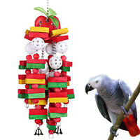 Bird Chewing Toy Large Medium Parrot Cage Wood Hanging Toys for African Grey